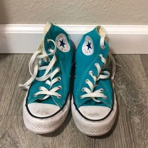 Teal high top CONVERSE ALL STAR•CHUCK TAYLOR shoes